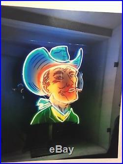 Vintage & Rare (1940's) Neon Cowboy Advertising Sign
