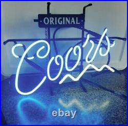 Vintage Rare Coors Light Original 1998 Beer Bar Neon Sign MANCAVE 19 x 14
