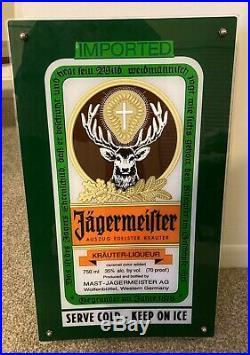 Vintage Rare Jagermeister Light Up Wall Mountable Neon Bar Sign