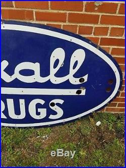 Vintage Rexall Drugs Porcelain Neon Sign 6x3