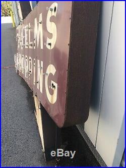 Vintage SSP Elms Shopping Neon Sign