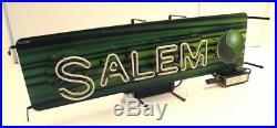 Vintage Salem Cigarettes Illuminated Neon Window / Wall Sign #2 31 x 12 x 9