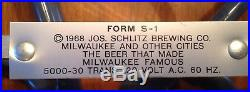 Vintage Schlitz Malt Liquor 1968 Neon Beer Sign Bar Light Mancave Rare