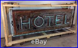 Vintage, VERY OLD 1920s-30s, Neon HOTEL Sign, Original