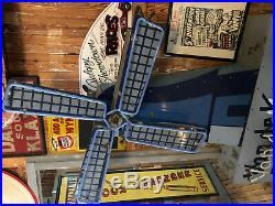 Vintage Working Neon Windmill Advertising Sign Van de Camp's Bakery Large