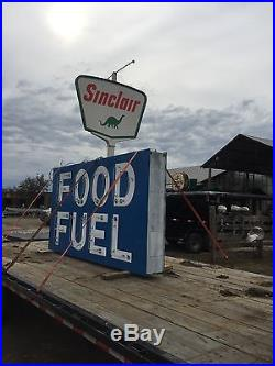 Vintage food fuel neon porcelain sign
