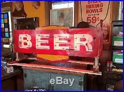 Vintage neon beer sign bar restauraunts