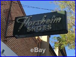 Vintage neon sign featuring Florsheim Shoes / installed in the 1940s