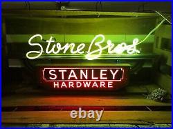 Vintage neon stanley tools sign advertisement display