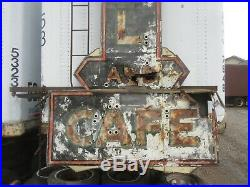 Vintage old antique neon hotel Cafe sign yard art rat rod shop man cave