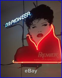 Vintage (rare) PiONEER old school audio NEON SiGN Pick-up ONLY (!)