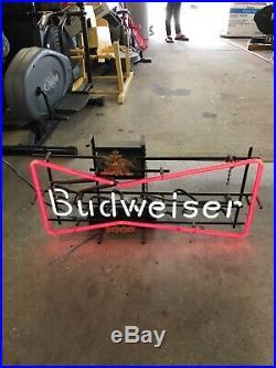 Vintage rare budweiser neon sign