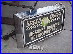 Vtg 1930's Advertising Neon Sign Speed Queen Washers Refrigerators NEON PRODUCTS