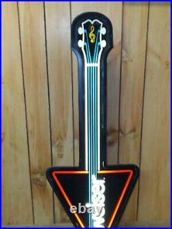 Vtg 1980's Budweiser Guitar Faux Neon Style Lighted Wall Sign Mancave Beer Cave