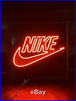 Vtg 1993 Nike NEON Sign Nike Swoosh 19 Store Display
