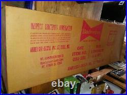 Vtg Budweiser Bud Beer Bottle Neon Advertising Sign 1980's NIB! Free Shipping