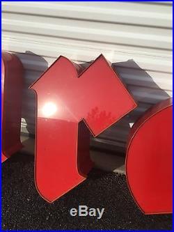 Vtg Firestone Storefront Backlit Neon Letters Sign Free Shipping