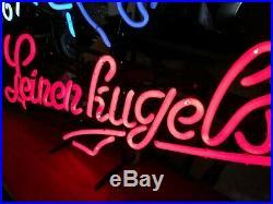 Vtg Leinenkugel's neon Beer Sign Since 1867 Princess Maiden Old Bar Tavern Sign