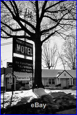 Vtg MAPLE SHADE MOTEL Ramsey Bergen County NJ Sign Painted 40s 50s Neon Old +1