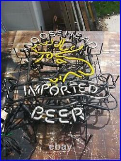Vtg Moosehead Neon Beer Sign Real Original Tavern Bar Pub Light Man Cave Recroom