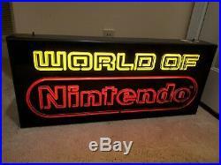 World of Nintendo Superbrite Series Retailer Store Display Sign Vintage Neon